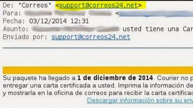 Variante CryptoLocker – Correos24.net