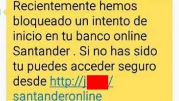 Campaña fraudulenta suplanta a Banco Santander