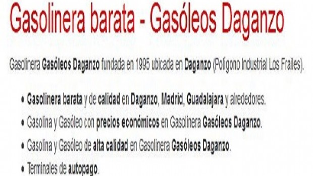 Gasóleos Daganzo – Gasolinera barata