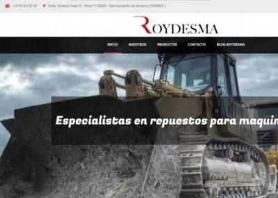Roydesma, Especialistas en repuestos para maquinaria pesada