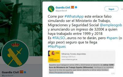 Whatsapp FALSO Ministerio de Trabajo