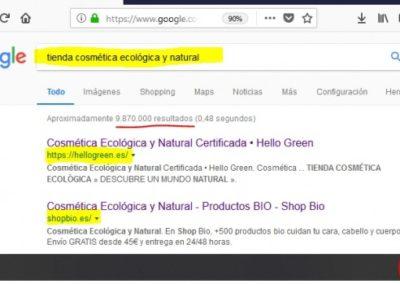 SEO – Cosmética Ecológica y Natural
