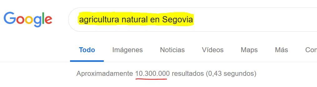Agricultura natural en Segovia