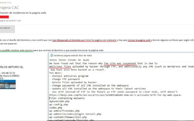 Servicio de Mantenimiento y Seguridad en Webs
